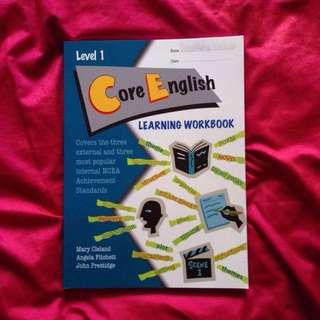 Level 1 Core English Learning Workbook