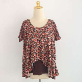 SALEEEE!! Brown Flower Top