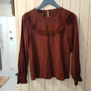 Mango maroon pullover