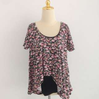 SALEEEEE!! Black Flower Top