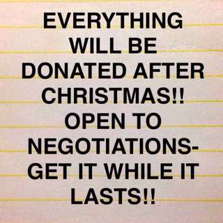 Everything MUST go!!
