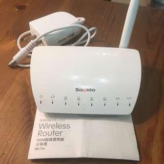 Wireless Router 150M Sapido 超值雲無線分享器