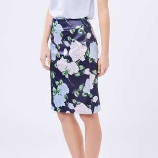 REVIEW Blue rose skirt