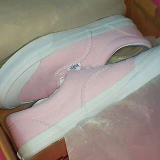 Vans 正版 粉紅帆布鞋