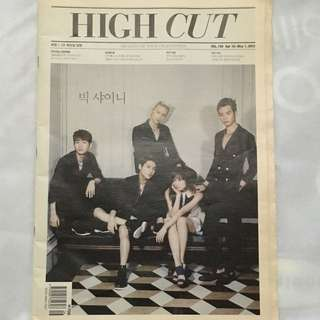 SHINee High Cut magazine cover and spread