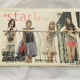 SNSD GIRLS GENERATION Star 1 Magazine cover and spread