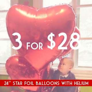 """[SALES] 30"""" Big Heart Balloon"""