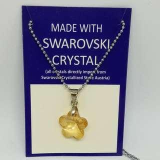 100% 全新 Swarovski Crystallized 水晶頸鍊 三折