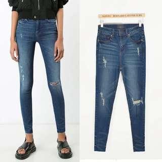 超顯瘦👄刷色牛仔褲