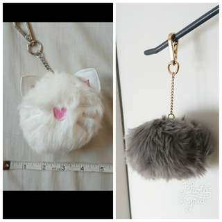 100%new 毛毛貓貓吊飾匙扣 furry cat keyring decoration