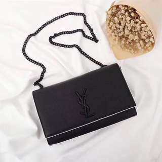 YSL Monogramme Contrast Piping Bag