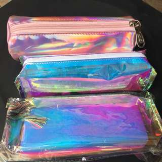 Holographic pencil cases