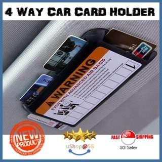 ★[NEW] SALE★ 4 WAY SLIM CAR CARD HOLDER - CASHCARD / LICENSE / PETROL CARD / RFID CARD
