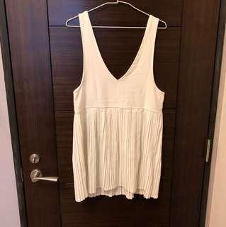 全新✨AIRSPACE白色吊帶裙