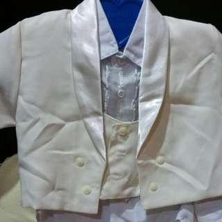 Stelan jas komplit putih gading