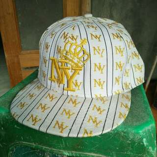 Ny king fitted cap all over printed