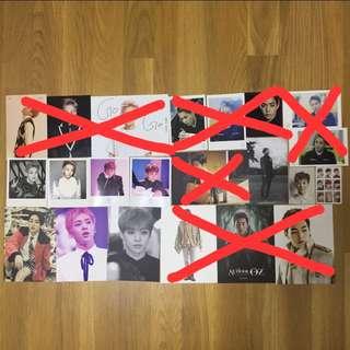 Exo Xiumin/Minseok rare postcards