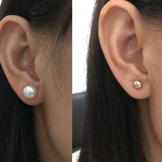 2 ways wearing 14k gold filled earring