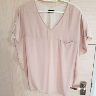 Chiffon beige size s top from apart by lowrys