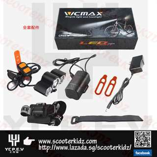 VICMAX New led A30 U2 L2 LED bike Front Light Lamp bike accessories + Waterproof Battery Pack + Charger