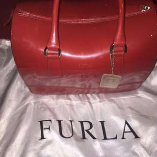 ‼️SALE‼️Preloved Authentic Furla Red Satchel