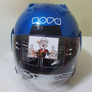 1211***Nova Helmet Blue For SALE, Yamaha Jupiter, Spark, Sniper,, Honda, SUZUKI
