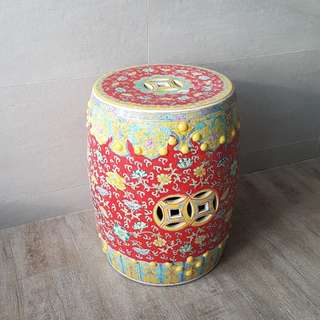 Old Chinese Ceramic Stool