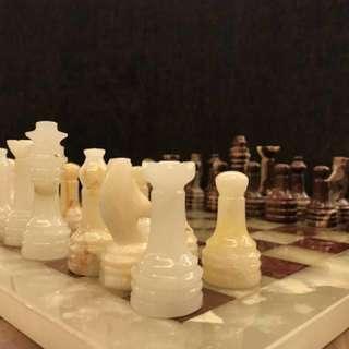 #MidNovember50 Egyptian Antique Marble Chess Set