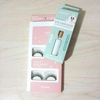 Eyelashes x5 + glue