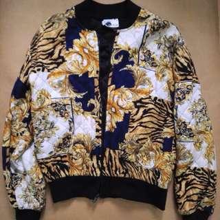 REPRICED versace inspired bomber jacket