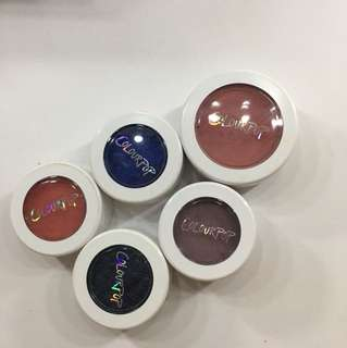 ColorPop Super Shock Eyeshadows and blush