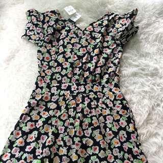 New Agnes b blue floral tea dress 38