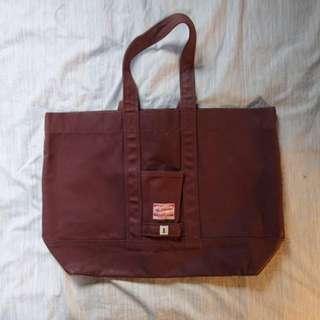 Red Cloud Red Banner Canvas Tote Bag