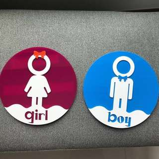 Toilet sign (2pcs)