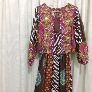 Pattern Long Dress