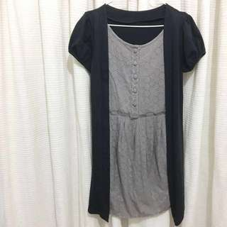 Mini Dress with Outer
