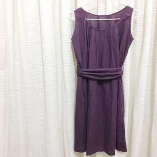 Dark Purple Midi Dress