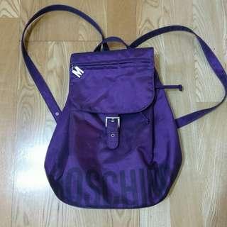 艷紫色moschino正品日本製後背包