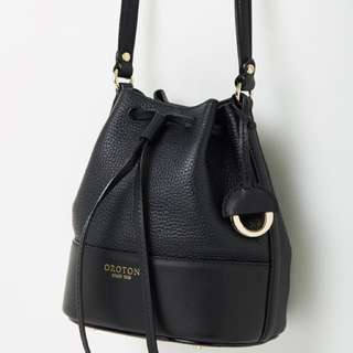 Oroton Berkeley Bucket Black Sling Bag