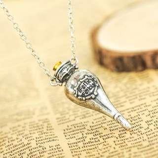 Harry Potter Felix Felicis Potion Necklace Pendant (Silver)