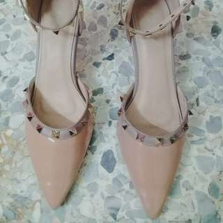 Nude studs heels M.O.D shoes