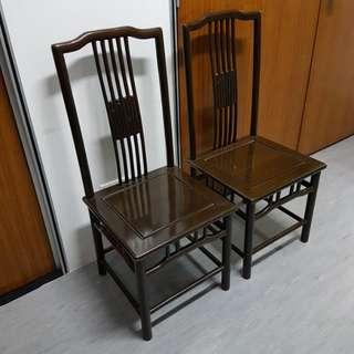 Dark Rose Wood Chairs