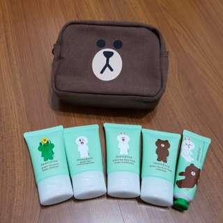 全新 韓國 innisfree × line 聯名 綠茶系列 5件旅行組