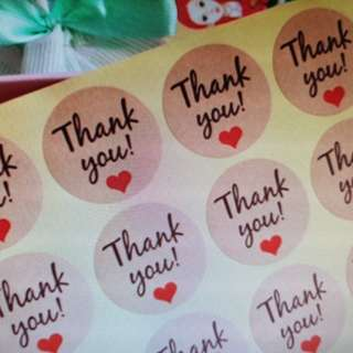 *Thank you* stickers