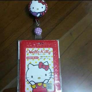 全新,Hello kitty 伸縮證件夾 (如圖)