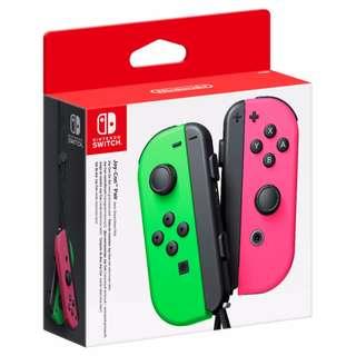 [BNIB] Nintendo Switch Neon Green & Pink Joy-Con Set