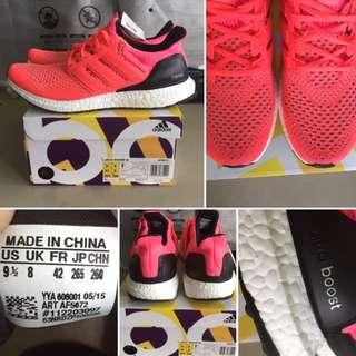OG Adidas Ultra Boost OG 1.0  'Pink Flash' 9.5US