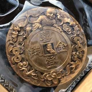 瀋陽造幣廠 喜登金錢45mm銅章 超限量發行1000枚