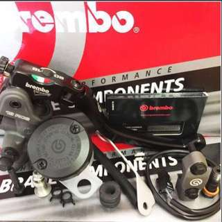 🇮🇹 Brembo Radial •One Of The 14/15/17/19RCS Brake Master Cylinder + Brake Reservoir Mounting Kit With Bracket And Mirror Clamp •GOLD PLATINUM PACKAGE••Best Buy••