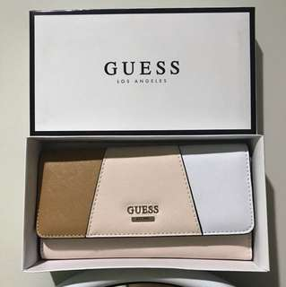 Guess Wallet Brown&White